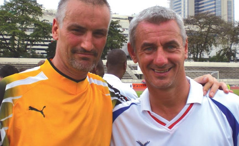 Sid with Ian Rush.